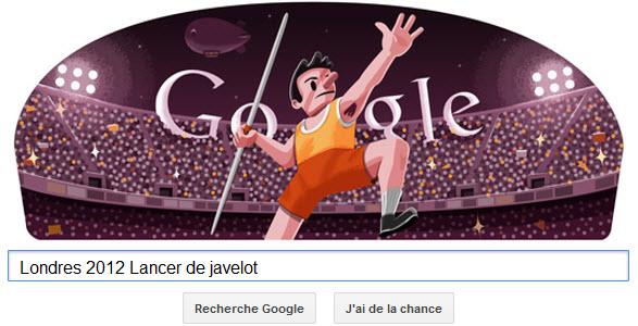 #Londres2012 - Google met à l'honneur le Lancer de javelot