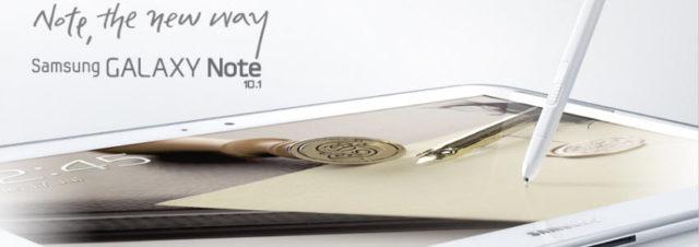 Le Samsung Galaxy Note 10.1 sera disponible à la fin du mois d'août!