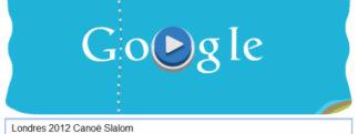 #Londres2012 – Google met à l'honneur le Canoë slalom avec un Doodle «mini-jeu»