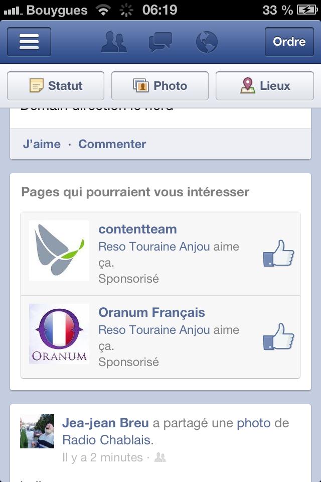Facebook : des publicités dans l'application mobile!