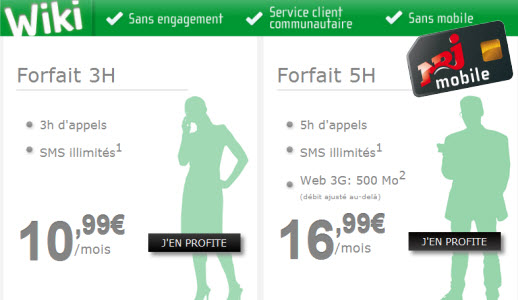 #NRJMobile lance son offre de forfaits sans engagement Wiki