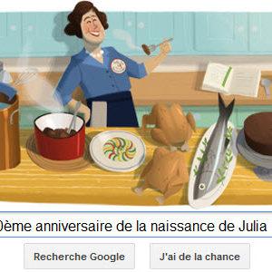 Google fête le 100ème anniversaire de la naissance de Julia Child