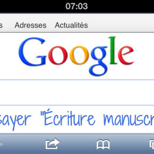 Google : l'écriture manuscrite maintenant disponible sur Google.fr