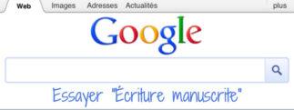 Google : l'écriture manuscrite maintenant disponible en France sur Google.fr