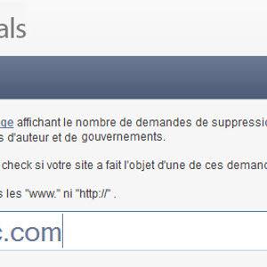 GG Removals - Vérifier si un site fait l'objet d'une demande de retrait de l'index de Google