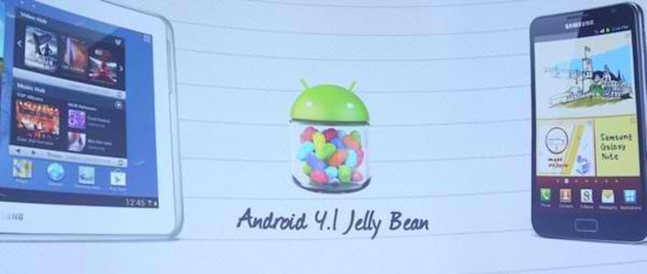 Les Samsung Galaxy S3 et Galaxy Note auront droit à Android 4.1 Jelly Bean