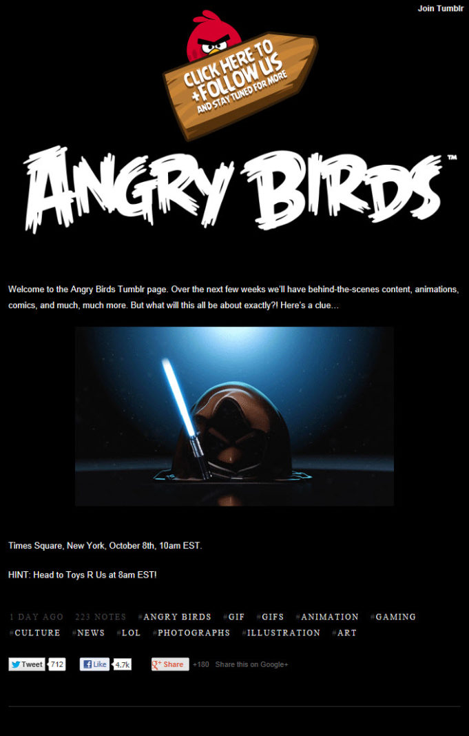 Un Angry Birds Star Wars le 8 octobre?