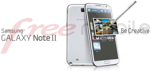 #FreeMobile propose dorénavant le Samsung Galaxy Note 2