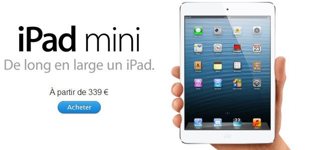 #iPadMini : les pré-commandes sont ouvertes!