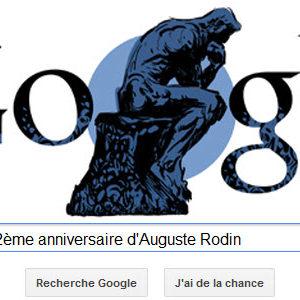 Google fête le 172ème anniversaire d'Auguste Rodin