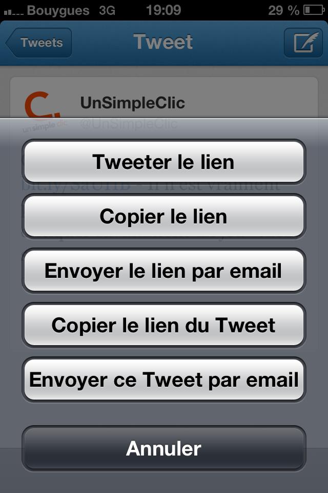 Twitter : le partage des tweets par email est disponible!