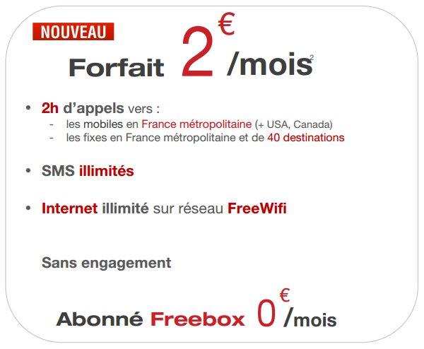#FreeMobile revoit son forfait à 2€ qui devient encore moins cher!