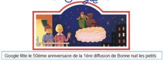 Google fête le 50ème anniversaire de la 1ère diffusion de Bonne nuit les petits [Doodle]