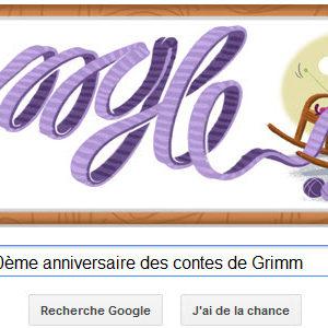 Google fête le 200ème anniversaire des contes de Grimm [Doodle]
