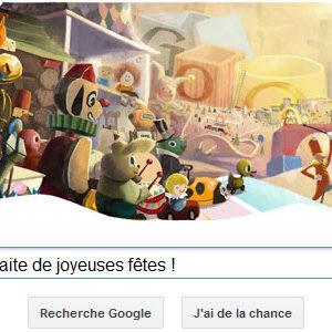Google vous souhaite de joyeuses fêtes ! [Doodle]