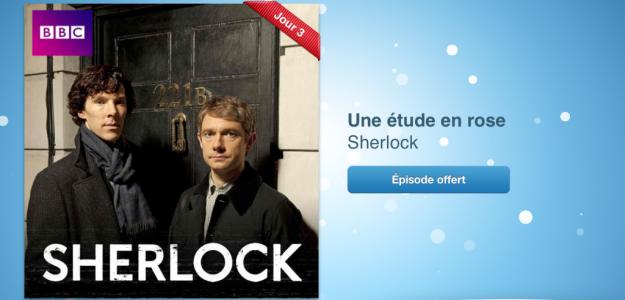 12 jours cadeaux iTunes 2012 – Jour 3 : le 1er épisode de la saison 1 de la série Sherlock