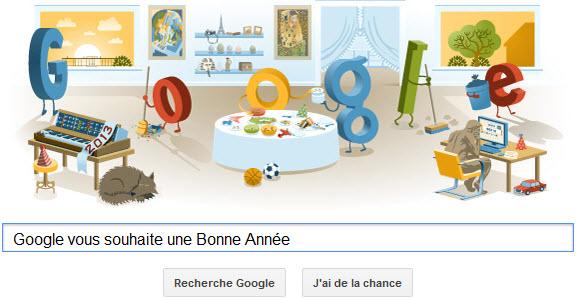 Google vous souhaite la Bonne Année!
