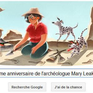 Google fête le 100ème anniversaire de l'archéologue Mary Leakey [Doodle]