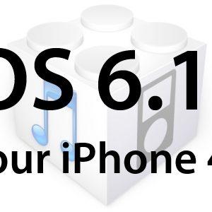 Apple libère l'iOS 6.1.1 uniquement pour l'iPhone 4S