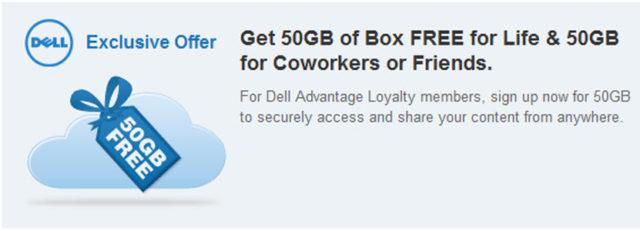 Box offre 50Go d'espace disque non limité dans le temps!