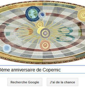 Google fête le 540ème anniversaire de Copernic [Doodle]