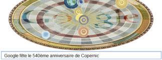 Google fête le 540ème anniversaire de Nicolas Copernic [Doodle]