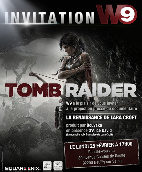 Invitation W9 Tom Raider