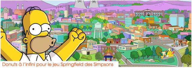 Donuts à l'infini pour le jeu Springfield des Simpsons