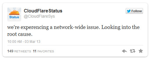 Quand CloudFlare fait des siennes, WikiLeaks tombe mais UnSimpleClic aussi!