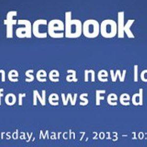 Facebook dévoilera le nouveau fil d'actualités le 7 mars prochain