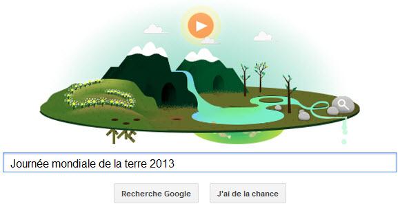 Google fête la Journée Mondiale de la Terre 2013 [Doodle]