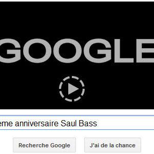 Google fête 8 mai mais également le 93ème anniversaire de Saul Bass [Doodle]