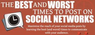 Quels sont les meilleurs et les pires moments pour poster sur les réseaux sociaux? [infographie]