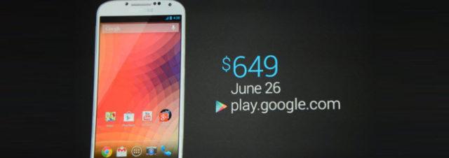 Google I/O : un Samsung Galaxy S4