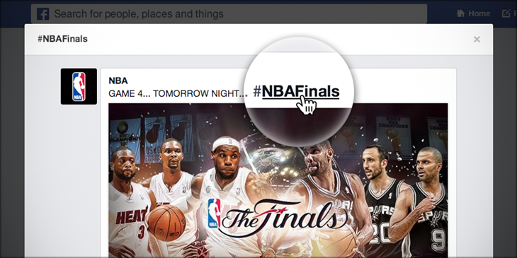 Facebook lance officellement à son tour les hashtags