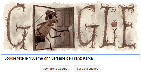 Google fête le 130ème anniversaire de Franz Kafka