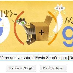Google fête le 126ème anniversaire d'Erwin Schrödinger [Doodle]