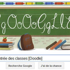 Google fête la Rentrée de classes [Doodle]