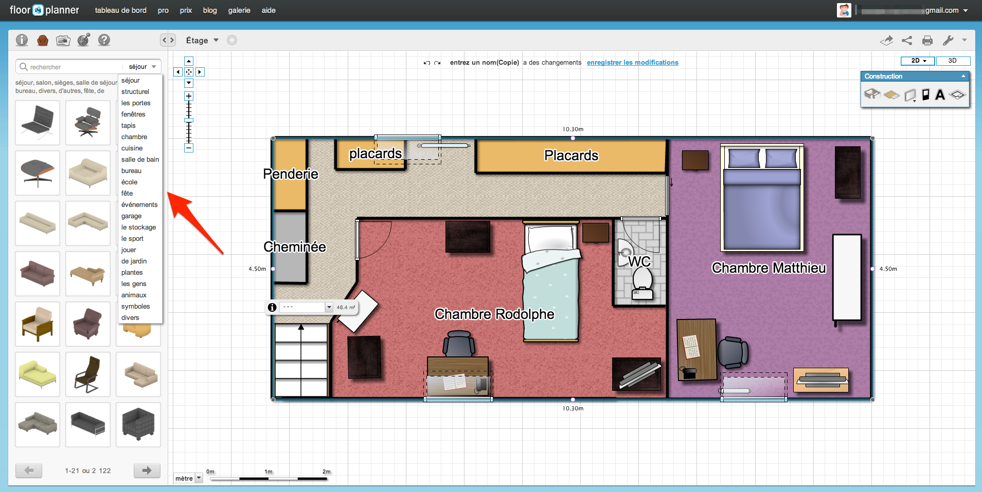 Floorplanner logiciel gratuit de conception et d am nagement int rieur unsimpleclic for Plan amenagement maison gratuit