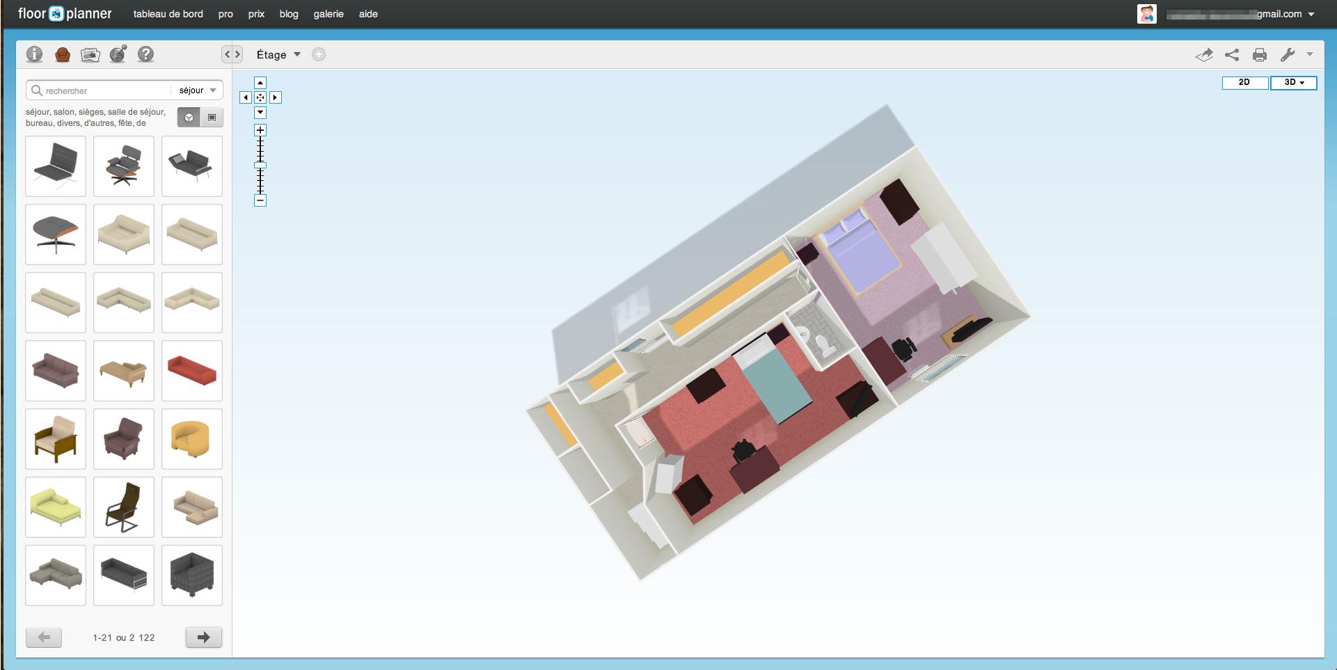 floorplanner logiciel gratuit de conception et d 39 am nagement int rieur unsimpleclic. Black Bedroom Furniture Sets. Home Design Ideas