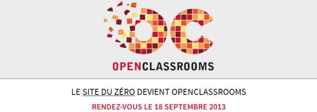 Le Site du Zéro devient OpenClassrooms!