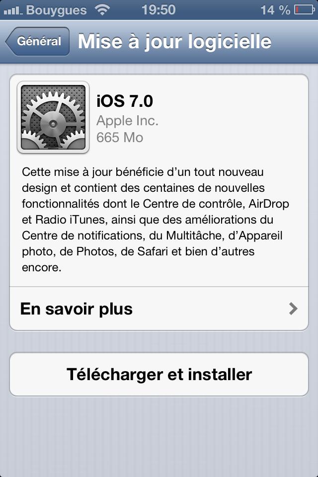 L'iOS 7 est disponible en OTA et en téléchargement [liens directs]
