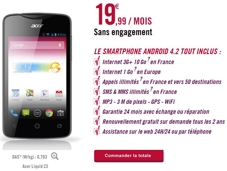 Virgin Mobile lance Telib, un forfait tout inclus 10Go smartphone inclus!