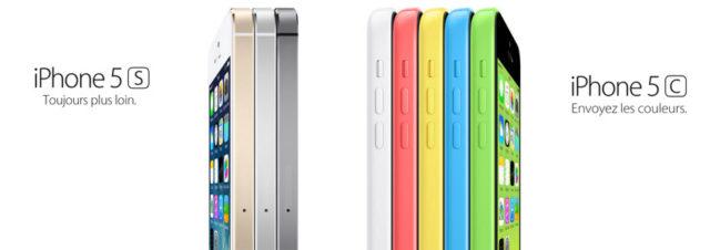 Les iPhone 5C et iPhone 5S sont disponibles!