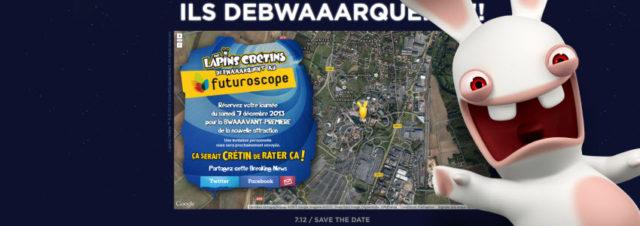 Les Lapins Crétins débwaaarquent au Futuroscope... le 7 décembre 2013!