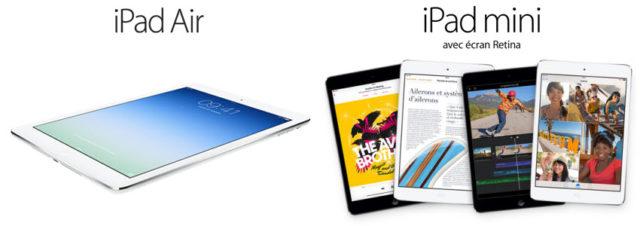 Apple présente ses iPad Air et iPad Mini 2