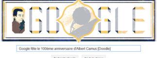 Google fête le 100ème anniversaire d'Albert Camus [Doodle]