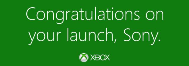 Quand Microsoft félicite son concurrent Sony pour le lancement de la PS4