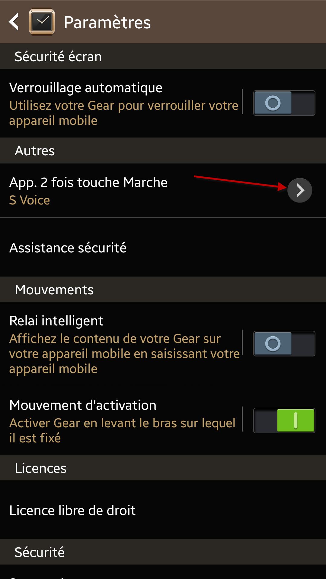 Comment configurer le lancement rapide d'une application avec le bouton Power de la Galaxy Gear? #GalaxyGearExperience