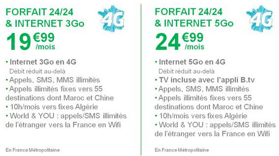 B&You annonce la 4G à partir de 19,99€/mois sans surcoût et dès le 17 décembre 2013!
